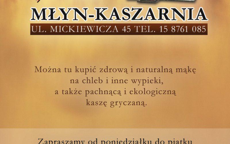 Ulotka Młyn Kaszarnia