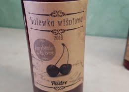 Etykieta na nalewkę wiśniową