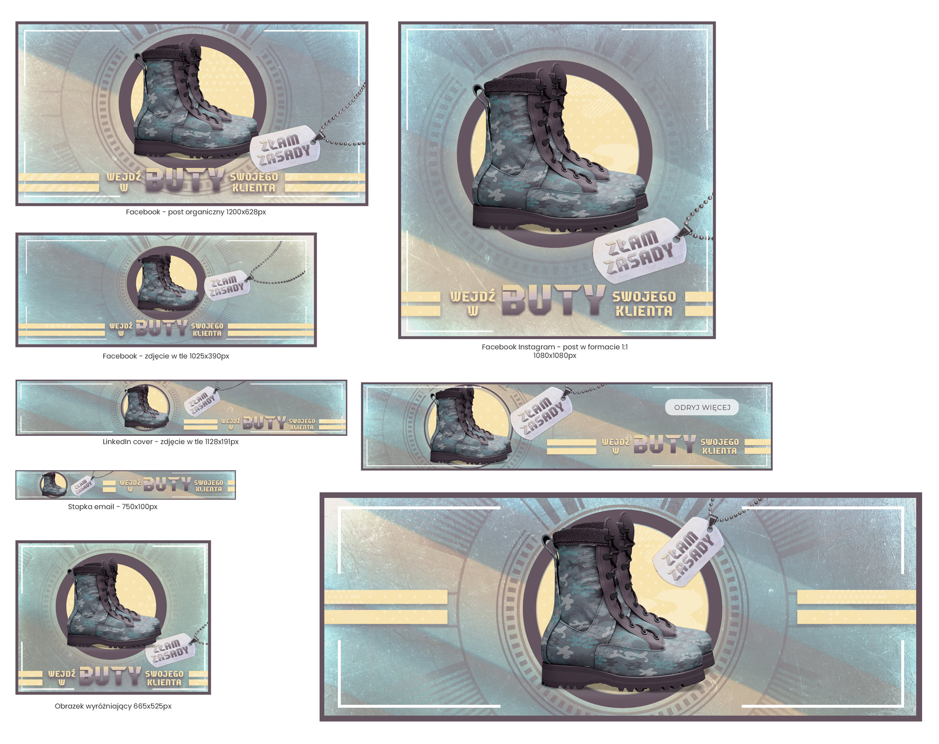 grafik kampanii reklamowej - key visual - composition