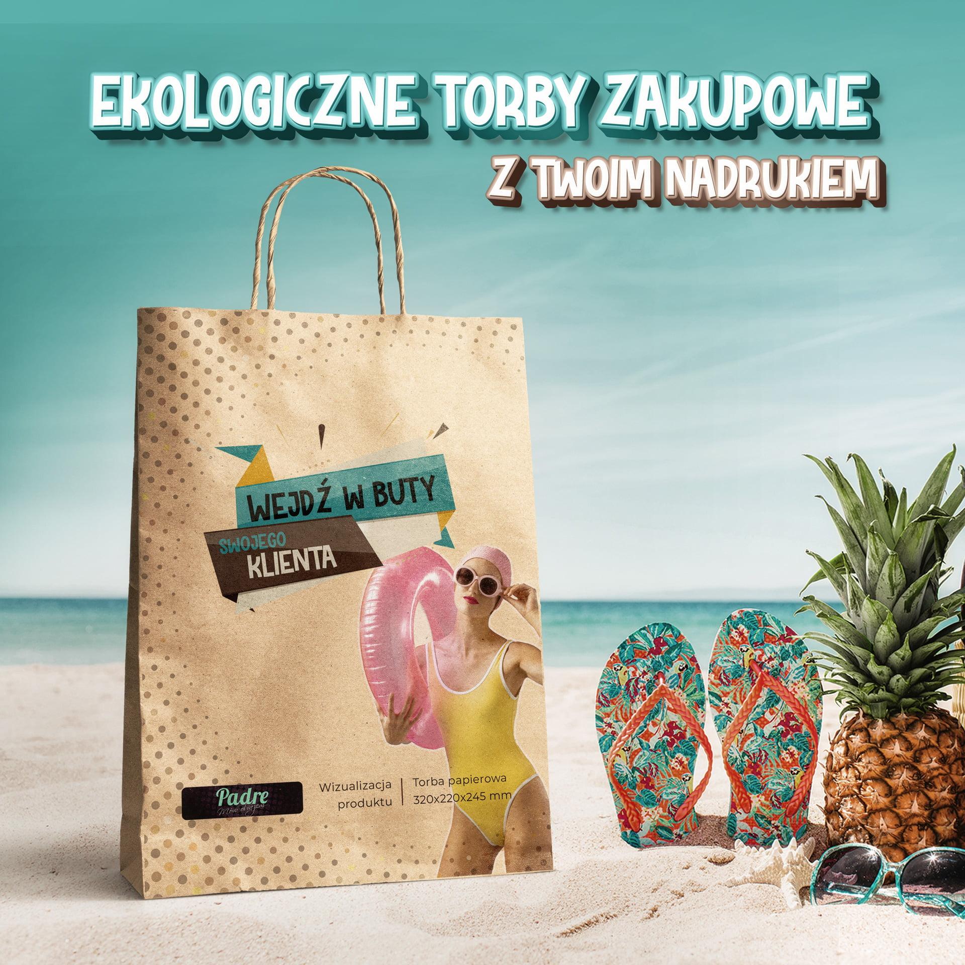 Ekologiczne torby zakupowe z Twoją grafiką