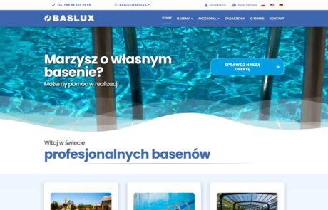 Projektowanie strony internetowej Baslux